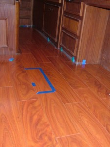 African Mahogany in Master Stateroom of our Hatteras Motoryacht