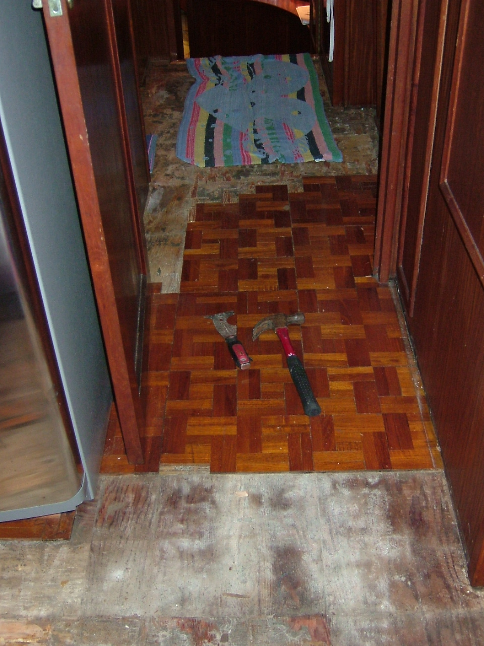 Goodbye Carpet And Worn Out Teak Parquet Floors Hello